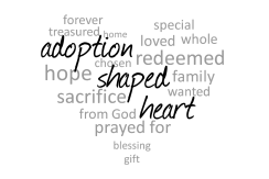 Adoption Shaped Heart Logo - PNG